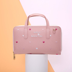Boutique small women's handbags, crossbody bag,women bags,mbroidered single shoulder bag for women Pink 22*14*4