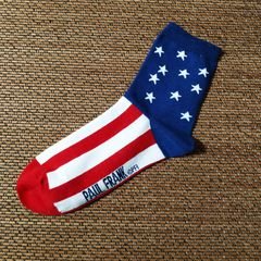 Good quality cotton socks for men,Paul Frank men's cotton socks,Elastic monkey socks blue 26~28cm one size