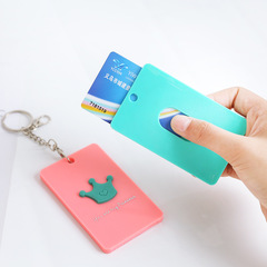 Creative 3D Shape Id Card Holder Key Holders Portable Card Bag Work Card Student Card Holder Style A One Size