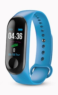 M2X monitoring 3 generations IP68 waterproof heart rate blood pressure sleep USB direct charge. blue only one