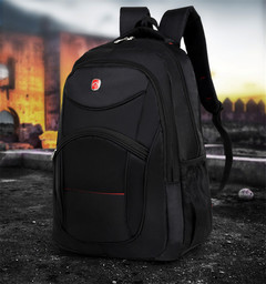 Backpack student bag female large capacity leisure travel bag men's business computer backpack black One size