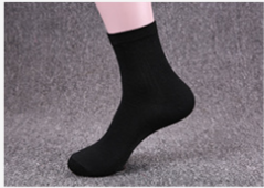 Men's socks, cotton socks, individually wrapped in cotton socks, sweat-absorbent men's socks. black One size One size