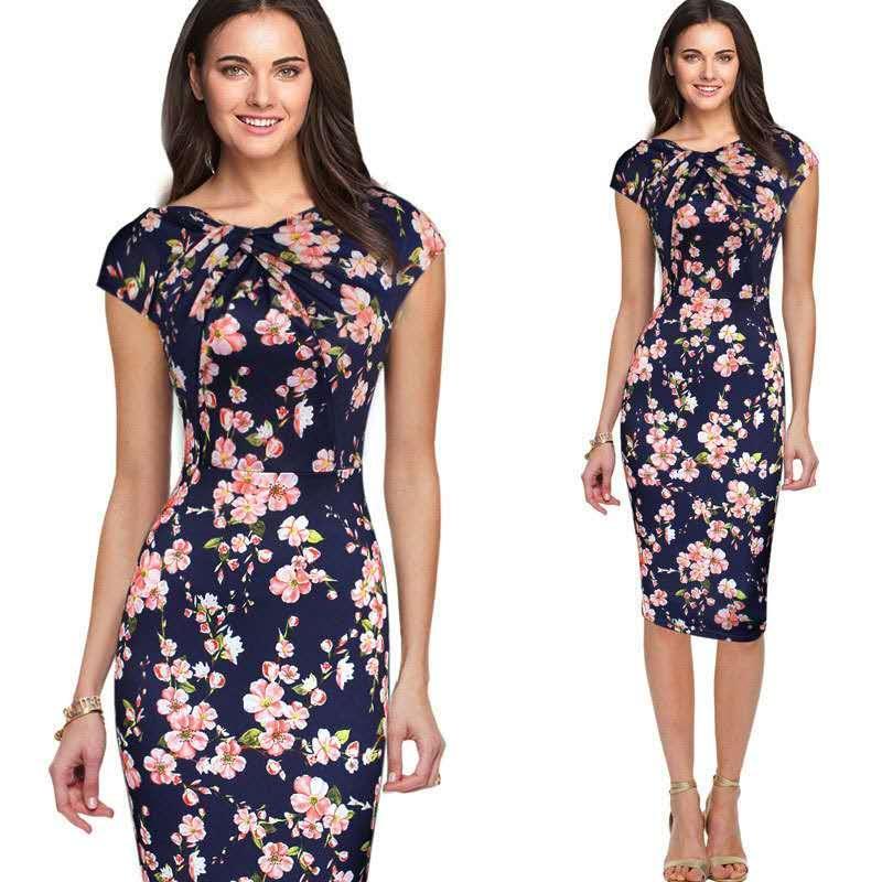 0ea6ab36b06 New Women Casual Fashion Office Lady Formal Polka dot Dress pencil ...
