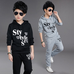 Fashion Kids clothes boys clothes  boys wear Kids clothes trousers and (Top and pants) Black 160CM