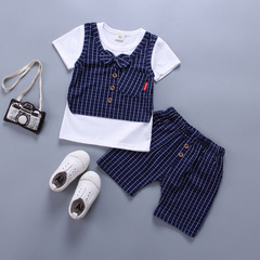 Fashion Kids clothes boys clothes boys wear T-shirt trousers T shirts Top and pants White Navy Pink navy 80 cotton