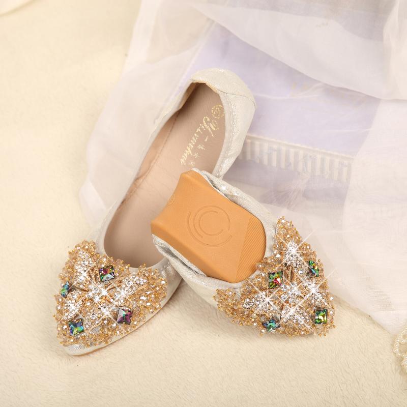 6c15ff751e57 Princess shoes Women plus size ballerina boat shoes Rhinestone ...