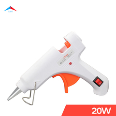 20W Hot Melt Glue Gun with switch,DIY Arts,Sealing, Quick Daily Repairs,Crafts,Christmas Gifts Only hot glue gun and not include glue stick 20W white