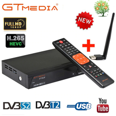 GTMEDIA V7 PLUS Freesat V7 DVB S2 Combo T2 1080P HD Satellite TV Receiver Box USB WiFi H.265 PowerVu