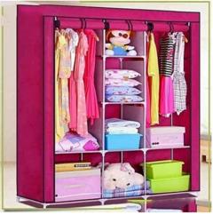 3 Columns Portable Wardrobe - Pink
