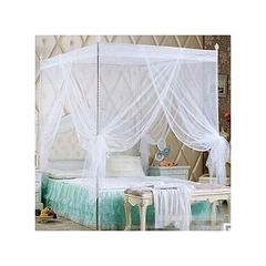 Mosquito Net With Straight Metallic Stands - White 5*6