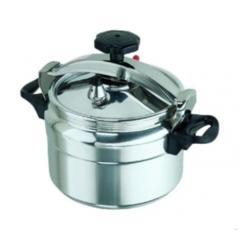 Non-explosive Pressure Cooker - silver & black 5 liters