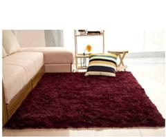Soft Fluffy Carpet Maroon 5*8