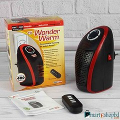Wonder Warm Room Heater House/ Office Warmer Heater Black