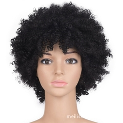 Synthetic Curlly Hair 9378 Ponytail Short Afro Kinky Curly Wrap Drawstring Puff Ponytail Extensions black one size