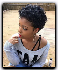 Synthetic Curlly Hair Wigs 9202 Ponytail Short Afro Kinky Curly Wrap Drawstring Puff Ponytail BOBO black one size