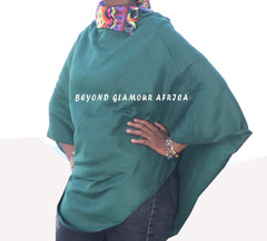 Poncho green one size