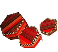 African Masaai Gift Box red small