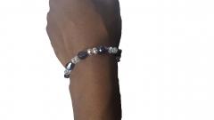 Single crystal bracelet purple one size