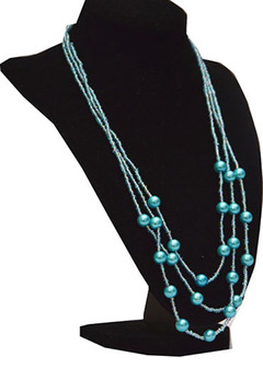 Necklace blue one size