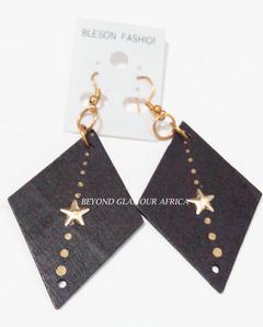Earrings black one size