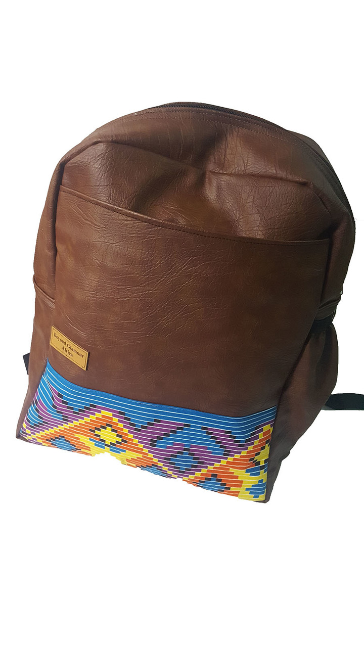 Leather Backpack brown one size