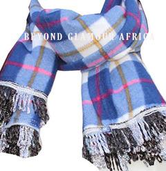 Poncho scarf white-blue one size