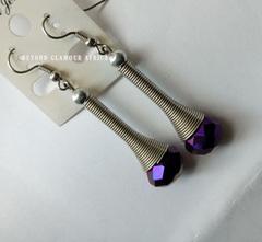 Earrings purple one size
