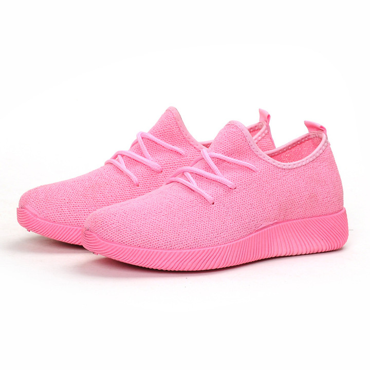 Soft bottom light large size women's shoes women's sports shoes pink large size pink 35
