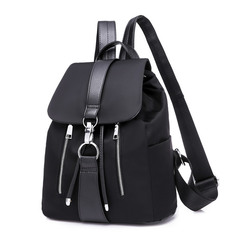 Stylish backpacking bag ladies handbag flat bag anti-theft bag black bag black 1