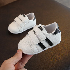 Baby Shoes, Boys and Girls Fashion, Small White Shoes, Baby's Soft-soled Walking Shoes black 15