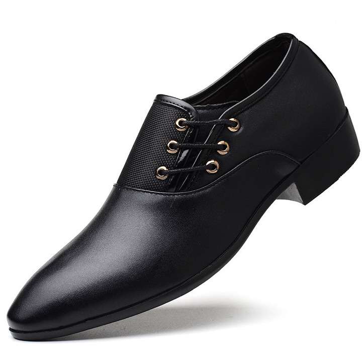 Shoes men's shoes shoes mens shoes for men Business Suit Leather Shoes Men's Size Casual Shoes black 48 pu