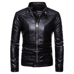 Jacket. Men's wear. Men's locomotive leather jacket, leather jacket, large leather jacket black xxl