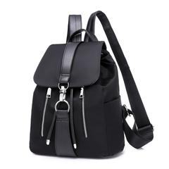 Fashion Backpack Lady's Handbag Flat Bottom Anti-theft Bag Black Bag Black black 1