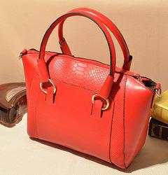 Women's bag Messenger bag Shoulder bag female Crocodile fashion backpack red unite