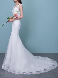 Xingyue Wedding Dresses Lace Appliques Ball Gown white Bridal fishtail Wedding dress s white