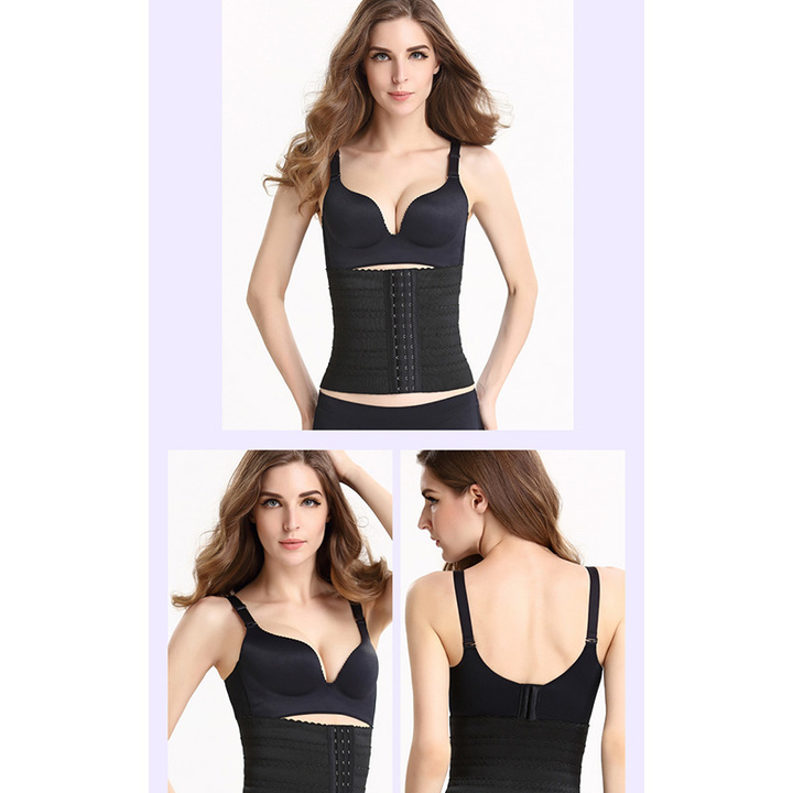 d110d82e8d Belly Band Pregnancy Belt Women Waist Trainer Corset Body Shaper Postpartum  Slimming Cincher Bustier black s