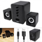 D-202 Portable USB Wired Combination Speaker Computer Bass Stereo Speaker Music Player Subwoofer black as shown