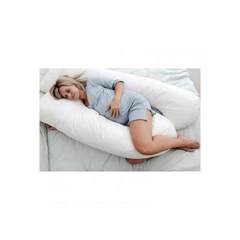 Superior Maternity Back & Belly Contoured Body Pillow with Washable Cover- White white MP010