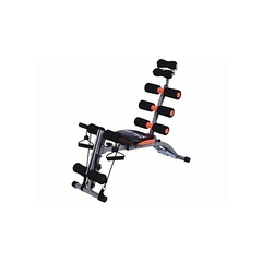 Multipurpose Abdominal Six Pack Care Bench Black