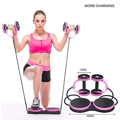 Abdominal Multi-functional Exercise Fitness AB Roller Wheel for Abdominal Fitness & Twist Weight pink normal