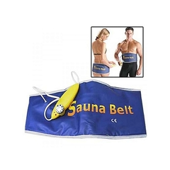 Electric Sauna Slimming Belt Lose Weight Burning Fat Heating Fitness blue normal