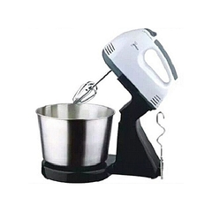 Starlux 7 Speeds Electric Hand Mixer Dough Mixer with Bowl. silver & black 1.8liters