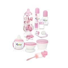MOM EASY Baby Gift set/ feeding bottle Set-10 pieces pink 2x