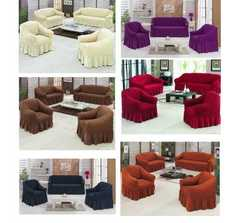 Sofa Seat Covers/clothing - 3+2+1+1 purple 7 Seater