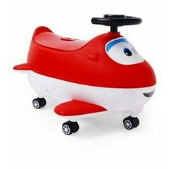 Potty Chair- Baby Potty With Wheels Aeroplane Shape- Red and White multicolor -