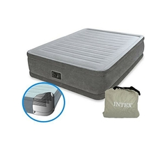 INTEX Dura-Beam Comfort Plush Mid Rise Air Bed Single (3 by 6) with Built-in Electric Pump multicolor 3x6