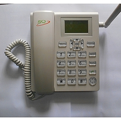 Generic Desktop Wireless Telephone GSM Fixed Phone dual sim white