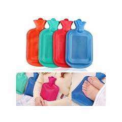Hot Water Bottle - Thick High Density Rubber Hot Water Bag 2L green