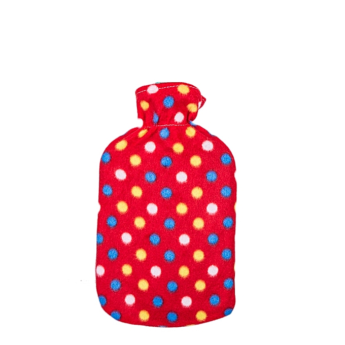 Hot Water Bottle With a Warmer Cover Washable Heat Therapy Care multicolor