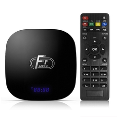 A95X F1 Android 8.1 TV Box 2GB + 16GB internal memory Smart TV Set Top Box Quad Core UHD 4K 2.4G Black 5*5*1